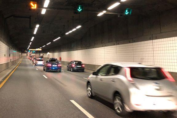 Kontroll i Oslo-tunnel: På to dager fikk 45 sjåfører tre prikker og 7250 kroner i bot