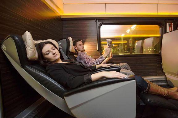 50 millioner skulle sikre flere soveplasser på togene. Disse liggestolene kan bli testet neste sommer.
