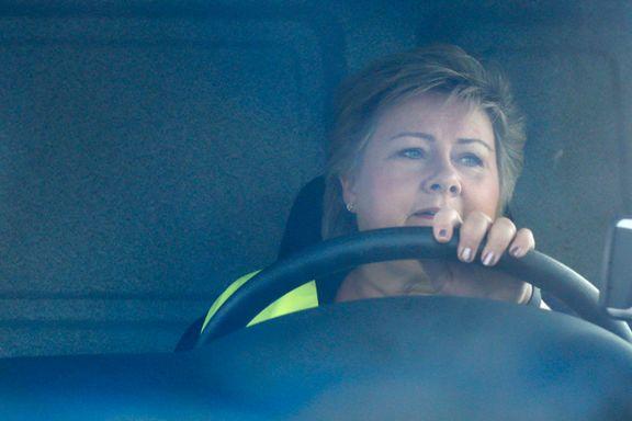Erna Solberg kjørte Norges første el-lastebil