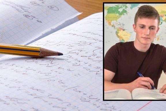 Oskar (19) gjorde skolearbeid to timer i uken – fikk 24 seksere
