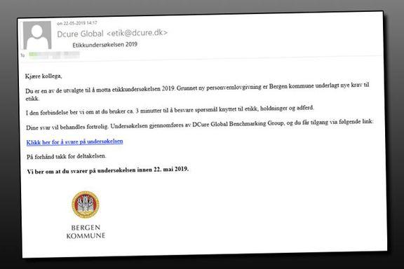 Falsk e-post lurte 2200 ansatte i Bergen kommune til å gi fra seg passordet sitt