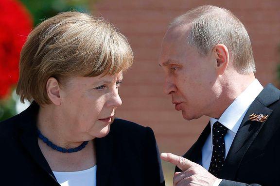 Merkels popularitet faller hjemme. Nå stoler hver fjerde østtysker mer på Putin.