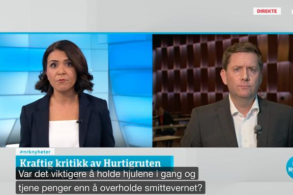 Aftenposten mener: Hurtigruten har lagt seg flat, men snubler likevel