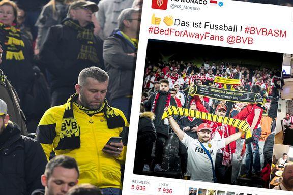 Dortmund-tilhengerne hylles: Hjalp «fienden» med overnatting