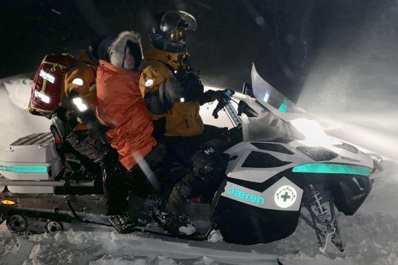 Jæren: Henning og Marte satt fem timer fast i bilen før de ble reddet ut av snøkaoset
