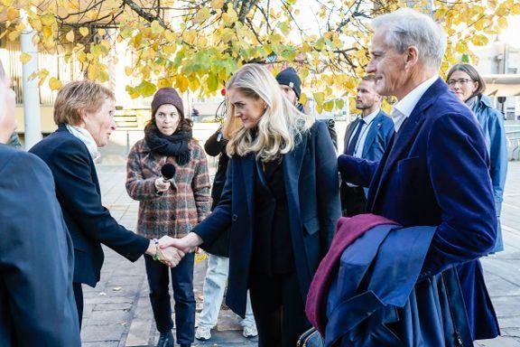 Mehl og Støre besøkte Kongsberg