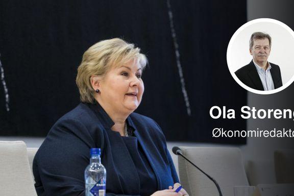 «Erna Solberg kan ikke skjule at offentlig sektor vil vokse og vokse»