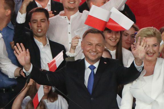 Regjeringens mann jubler etter valget. Men mange i Polen er redde. For hva kommer nå?