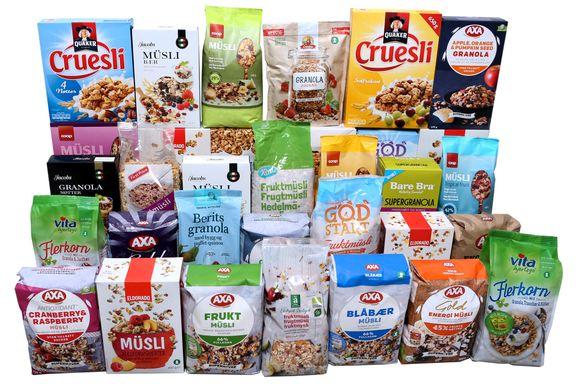 Test av müsli, crüsli og granola: Stor forskjell på sukkerinnholdet