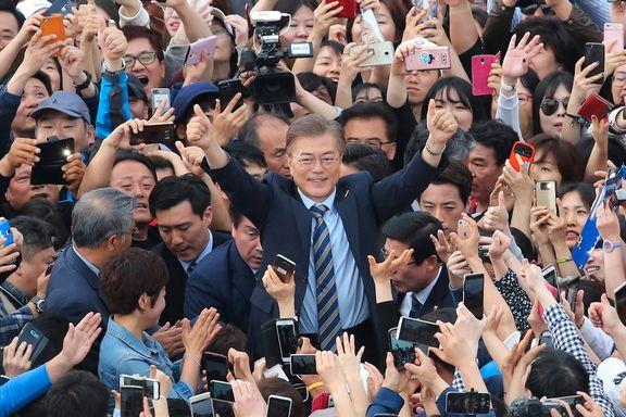 Dempet konflikt med Nord-Korea har vært en av valgvinnerens kampsaker
