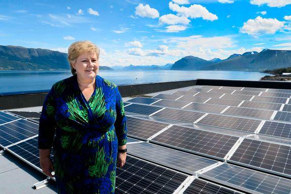 Erna Solberg: «Ingen grunn til at en 55-åring ikke skal lære seg nye duppedingser»