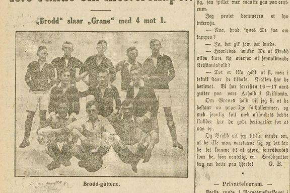 Cupresultatene 1912–1919
