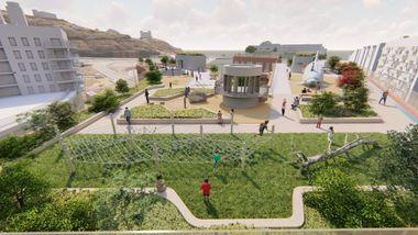 Denne Oslo-skolen får skolegård på taket. Én av årsakene er den dårlige luften i området.