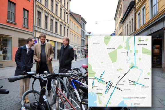 Høyre, Venstre og KrF vil doble antall gågater i sentrum - se forslaget