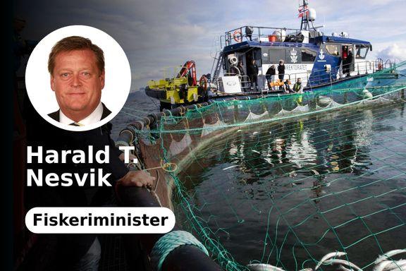 Fiskeriministeren svarer om «flytende slakterier»: Vi støtter innovasjon til havs