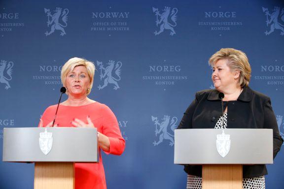 Slik har Siv Jensen og Erna Solberg prioritert
