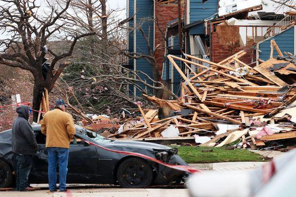 Voldsom tornado traff Texas