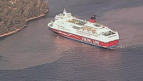 Passasjerer evakuert fra grunnstøtt cruiseferge