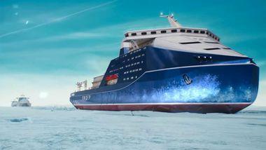 Russland bygger verdens mektigste isfartøy