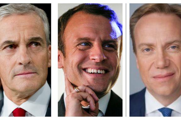 Frankrike-eksperter svarer: Har Støre eller Brende mest til felles med Macron?