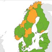 Disse norske fylkene er ikke lenger grønne på EUs smittekart