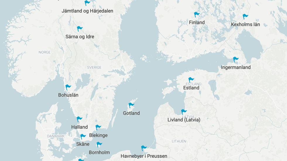 Se oversikten over det svenske imperiet