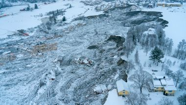 NVE skal bore 40 meter ned i leiren i Gjerdrum