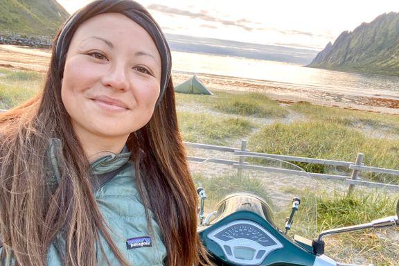 Julie Luneborg (37) kjørte tur/retur Oslo-Senja på scooter