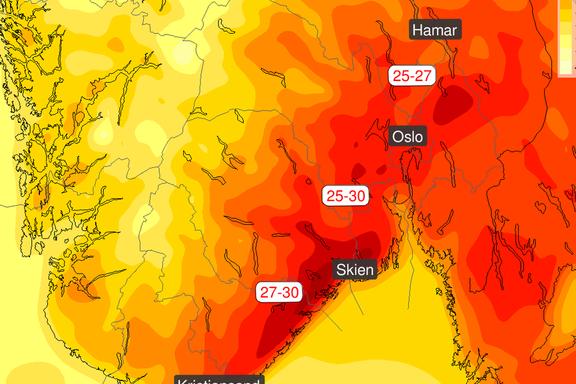 Til helgen får Østlandet kjenne på litt av Europas hetebølge