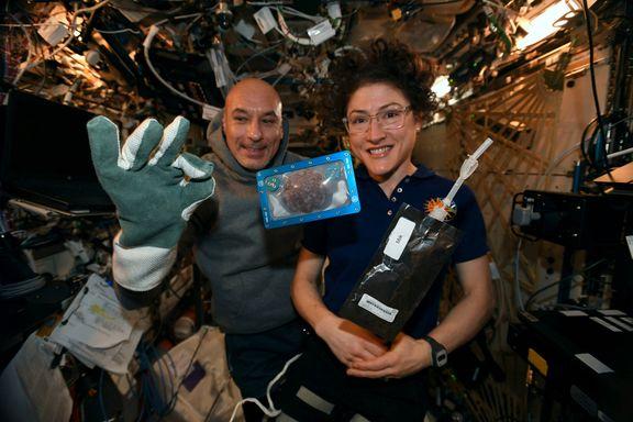 Astronauter bakte småkaker på romstasjonen
