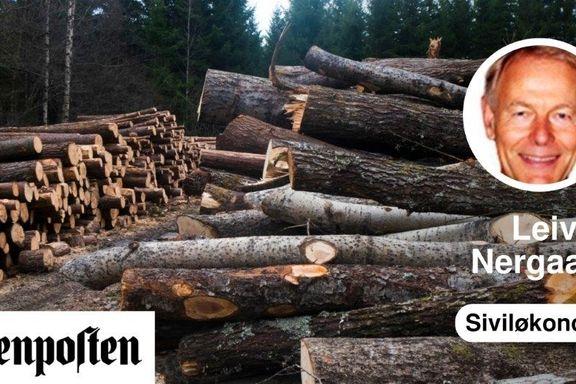 Det er god klimapolitikk å bygge ut skognæringene   Leiv L. Nergaard