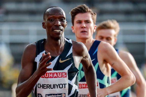 Måtte se seg slått igjen: Etter løpet kom Jakob Ingebrigtsen med en beskjed til rivalen