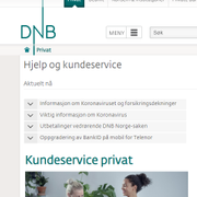 Betalingsproblemer for DNB-kunder