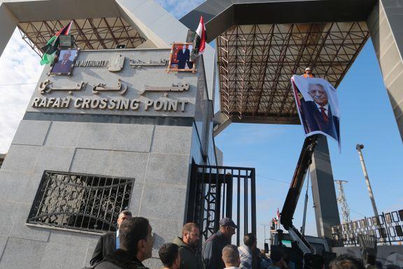 Egypt åpner grenseovergang til Gazastripen