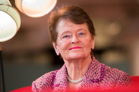 Gro Harlem Brundtland: Overrasket over at ikke Erna Solberg har tatt grep etter Listhaugs Rinkeby-besøk
