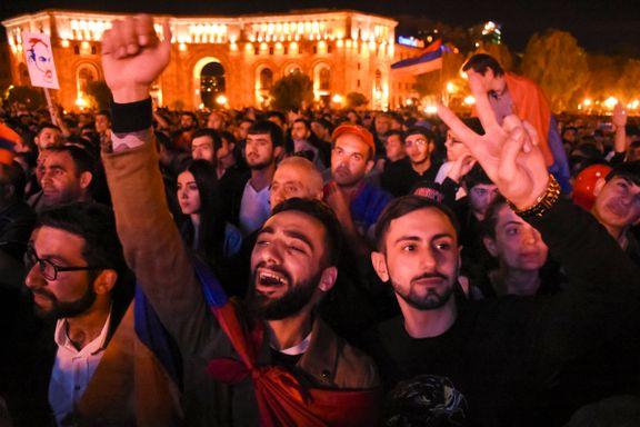Nye store protester i Armenia – krever regjeringens avgang