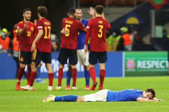 Italia tapte for første gang på tre år: Spania klare for Nations League-finale