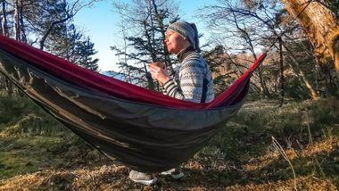 Hekta på hengekøye: May-Britt er fembarnsmor og sover ute minst én gang i uken