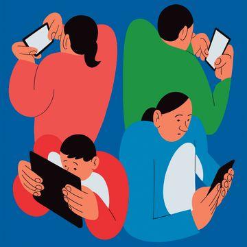 Foreldrene vil begrense barnas skjermbruk, men sliter selv med å legge bort mobilen