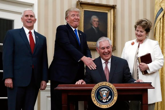 Rex Tillerson tatt i ed som USAs utenriksminister