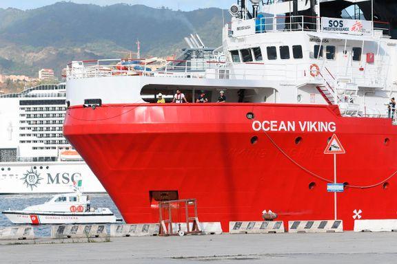 Ocean Viking reddet 74 mennesker i gummibåt utenfor Libya