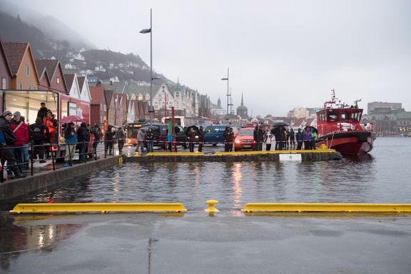 Oransje farevarsel i flere fylker:  Bryggen i Bergen kan bli oversvømt