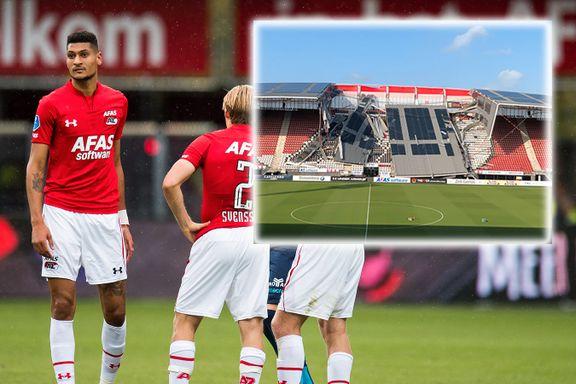 Deler av fotballstadion kollapset – tre nordmenn spiller for klubben