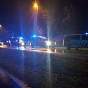 Frontkollisjon mellom ambulanse og personbil