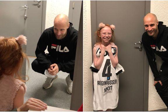 Emma (9) gråt da hun fikk beskjeden om RBK-helten. Dagen etter sto han på døren.