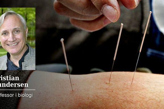 Akupunktur har samme effekt som å blåse på et sår