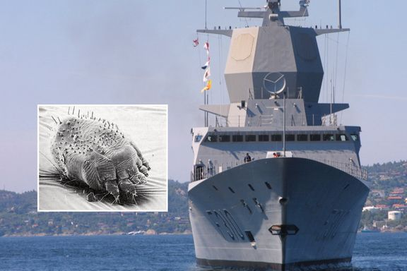 KNM «Fridtjof Nansen» er invadert av skabb. Nå settes mannskapet i land.