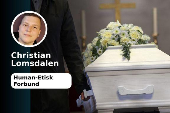 Jeg vil ikke ha begravelsen min i en gymsal