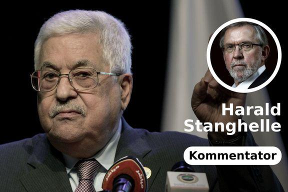 Mens Israel står på hodet i valg, velger Abbas å komme til Oslo. Så utenfor er han.