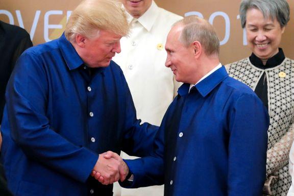 USAs og Russlands utenriksministre holdt møte i Vietnam, Putin og Trump håndhilste